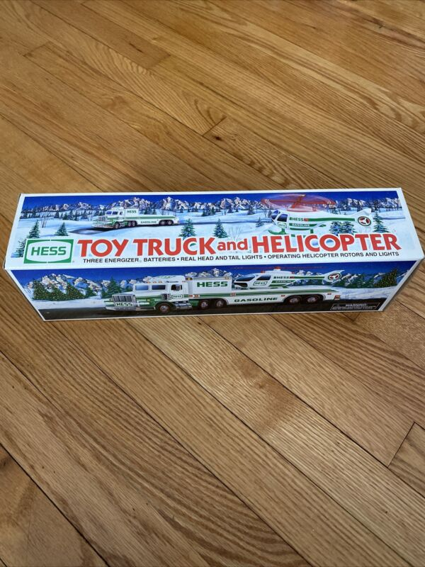1995 HESS Toy Truck and Helicopter in Original Box BRAND NEW!