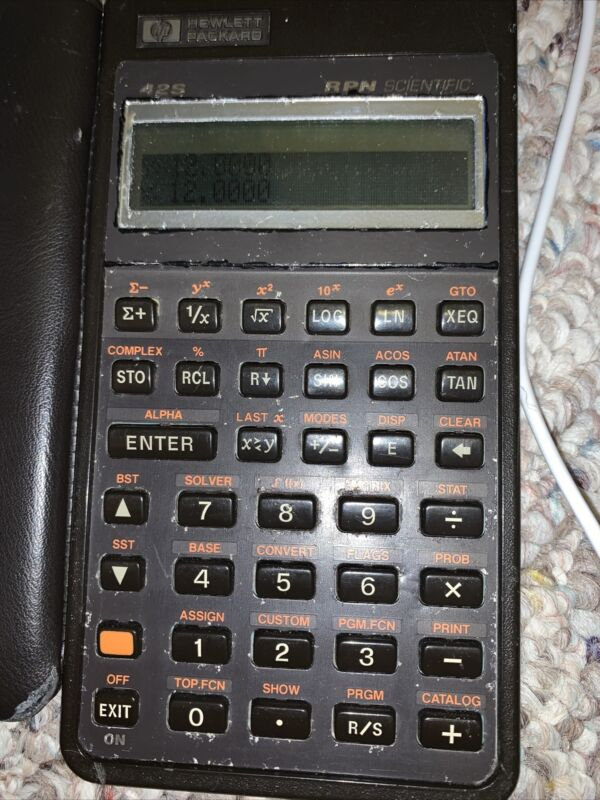 HP 42S Scientific Programmable Calculator w/case RPN Hewlett Packard USA