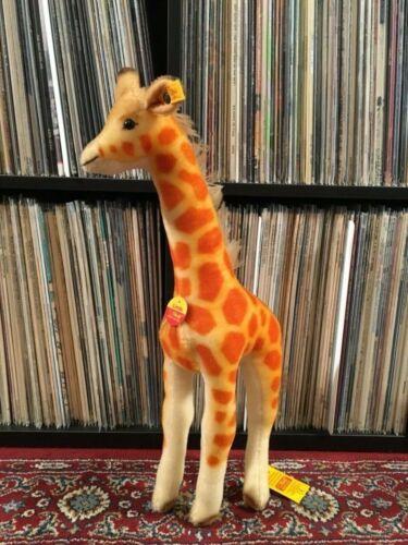 """Steiff Linda Giraffe 19"""" tall  Mohair Germany 068072"""