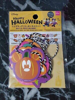 DAISO Disney Mickey & Minnie Mini Flag Happy Halloween Garland String Banner