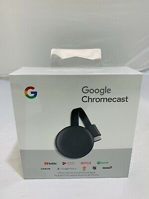 Google GA00439-CA Chromecast 3rd Gen HDMI Streaming Media Player Black
