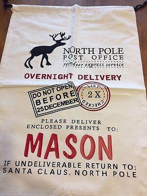 Canvas Santa Sacks Large Canvas Personalized Bags for Christmas Gifts - Large Christmas Bags For Presents