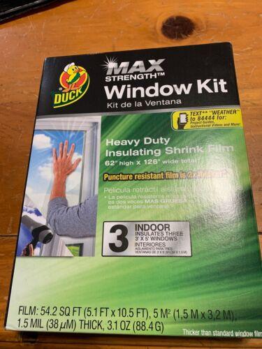 Duck Heavy-Duty Shrink Film Window Kit, 3pk