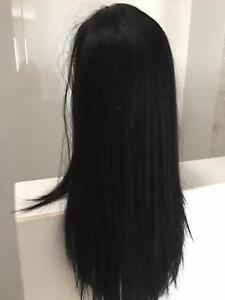 Long Black Wig - Real Hair New Mawson Lakes Salisbury Area Preview