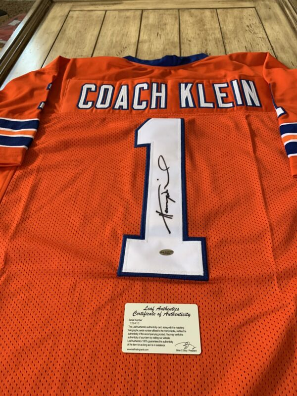 Henry Winkler Coach Klein Autographed/Signed Jersey COA The Water Boy Movie