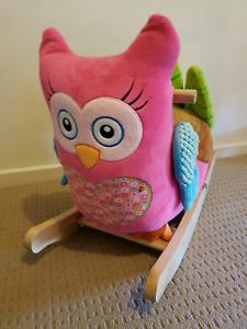 New Rockabye Plush Rocker Owlivia