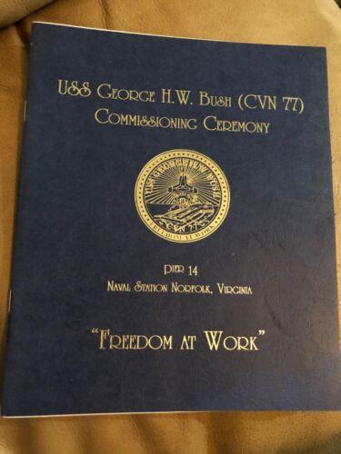 USS George H. W. Bush (CVN 77) Commissioning Ceremony Booklet