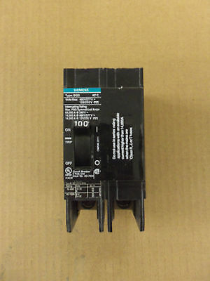 New Siemens Bqd Circuit Breaker Bqd2100 2 Pole 100 Amp 480v No Box