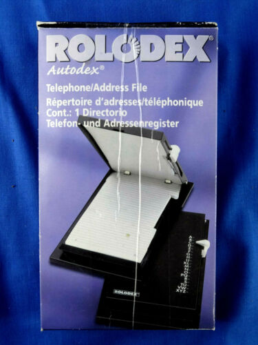 Rolodex Autodex Telephone Address File Directory Black 67457 Flip Up NEW