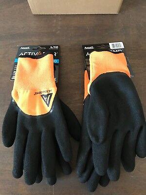 1x Ansell Activarmr Cold Weather Hi-viz Glove 97-011 Size 10 L Cutabrasion