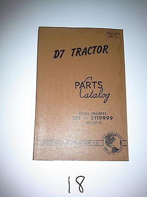 Caterpillar D7 Tractor Parts Catalog 1955 Ser 3t1-3t19999