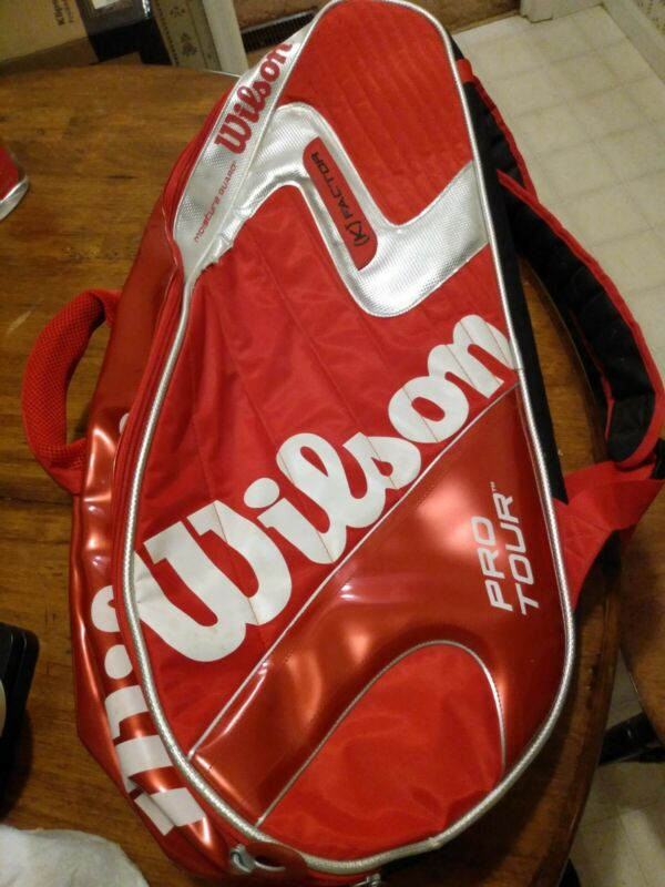 Wilson K Factor Pro Tour Super 6 Pack Red Tennis Bag Roger Federer Thermo Guard