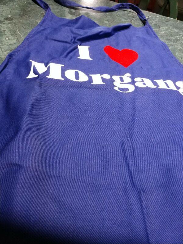 Collectible apron. I Love Morgans