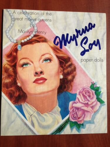 Myrna Loy Paper Dolls Great Movie Queens by Marilyn Henry Shackman 1995