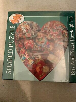 Bits & Pieces 750 Piece Heart Shaped Puzzle 'To My Valentine'. New & Sealed Heart Shaped Puzzle