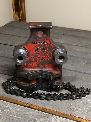 Vintage Ridgid Bc4a 18 - 4 Bottom Screw Bench Chain Pipe Vise Bc-4a
