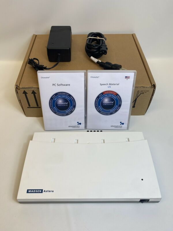 Madsen Astera Otometrics 1066 REF 8-04-13102 Audiometer -Missing Cable Cover-