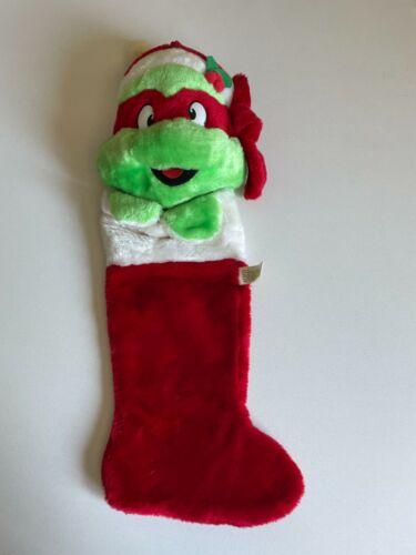 Vtg Plush TMNT Teenage Mutant Ninja Turtles Raphael Christmas Stocking 1990s
