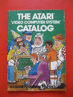 Vintage Atari Video Computer System Catalog 43 Game Program Cartridges  1981