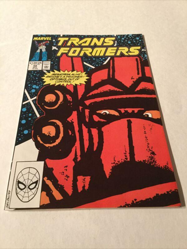 Transformers 58 Nm Near Mint Marvel Comics