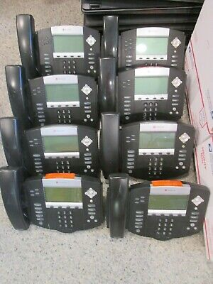 Lot Of 8 Polycom Soundpoint Ip 550 Hd Sip Business Office Phones Blk