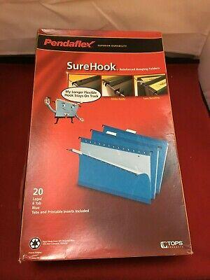 Pendaflex Surehook - Hanging File - Tabbed - Blue Pack Of 20