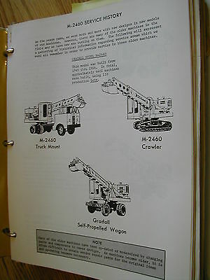 Gradall M-2460 Excavator Parts Catalog Book Manual Crawler Service Info Guide