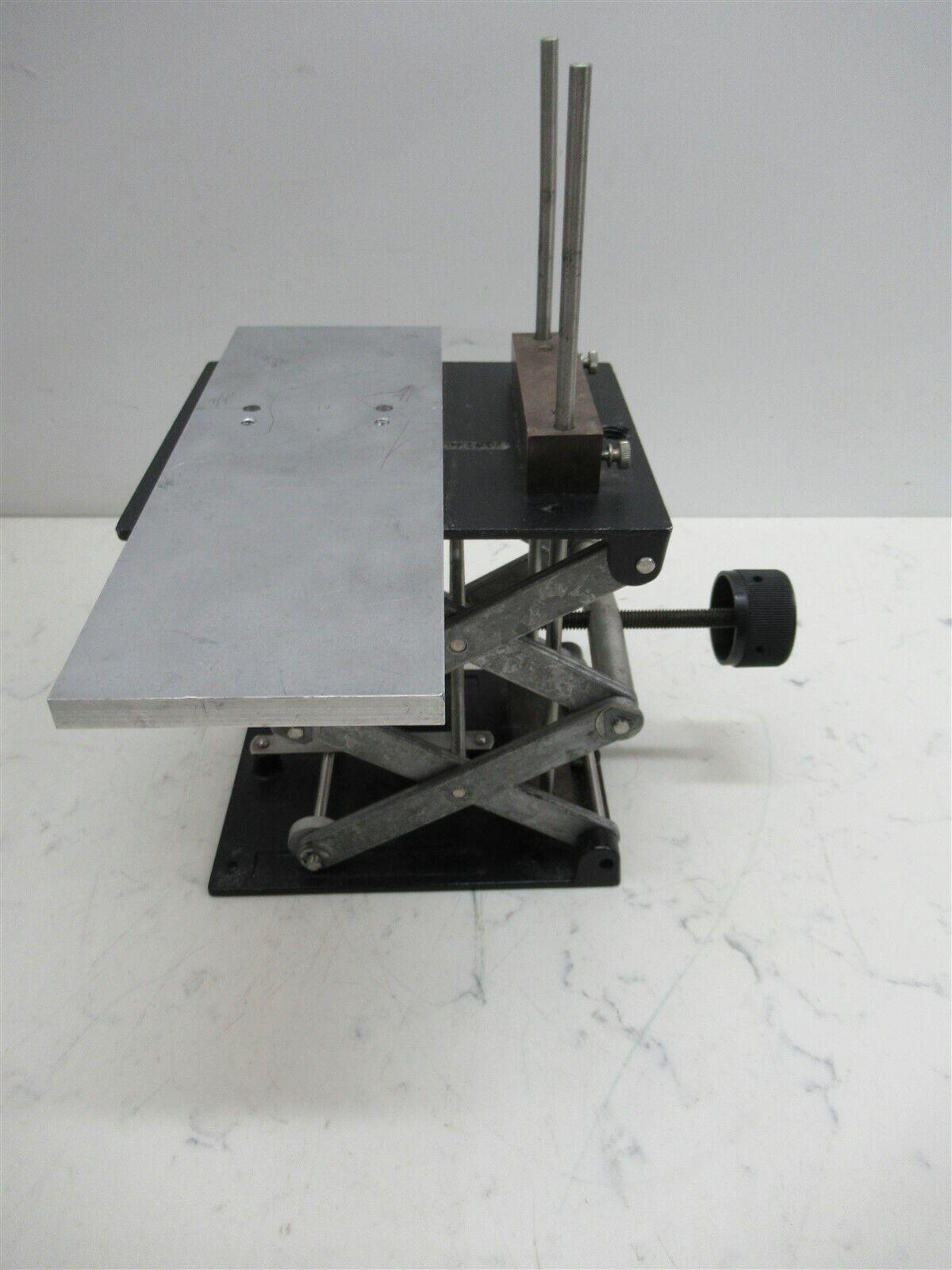 Laboratory Lift Vintage Quality Scissor Jack Unit w/ Stainless Extension Deck