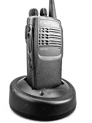 Mint Motorola Ht750 Vhf 4ch Radio Waccessories