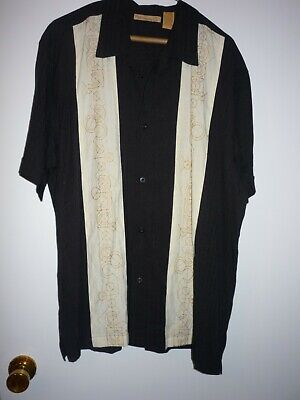 HAVANERA CO CASUAL RAYON/POLYESTER BUTTON FRONT SHIRT-SZ XL