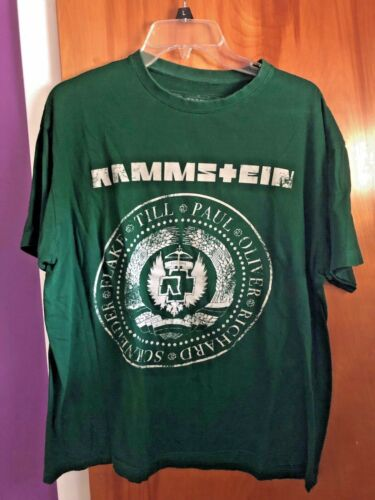 "Rammstein ""Ramones-inspired Logo"" Green XL Men"