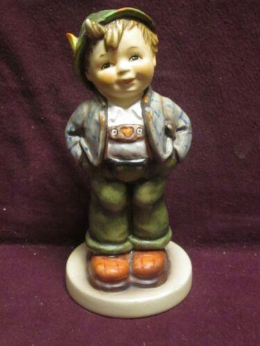 "Vintage Goebel Hummel Figurine ""HELLO WORLD"" #429 TMK6 Club Exclusive Boy 5.5"""