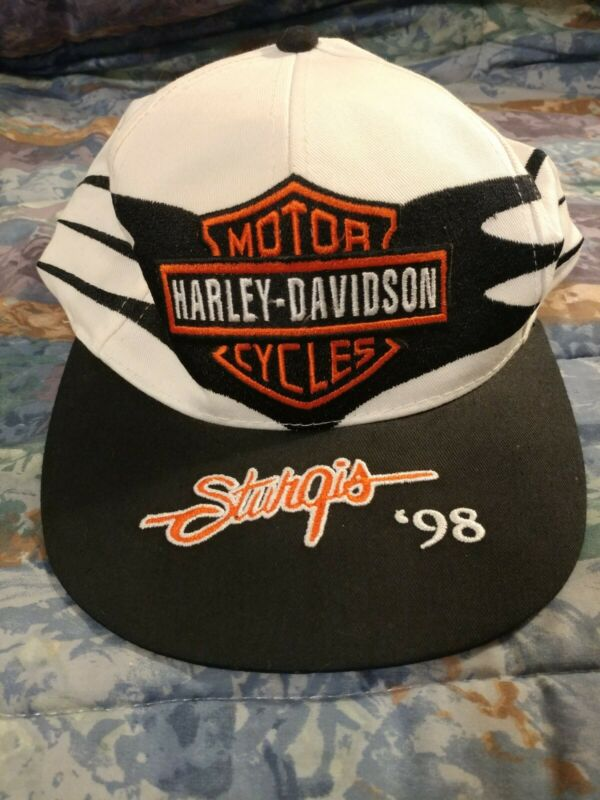 Harley Davidson White 98 Sturgis Hat NOS with tags