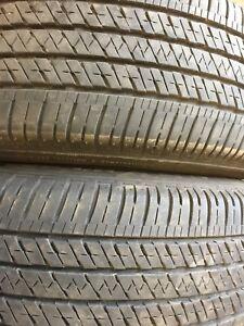 235/65r18 Bridgestone 80% tread