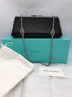 Tiffany & Co. Smooth Sabrina Black Leather Clutch