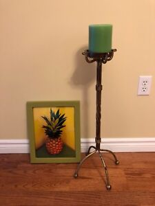 Candle Stand and Picture