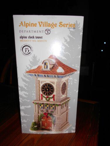 DEPT 56 ALPINE Village ALPINE CLOCK TOWER NIB