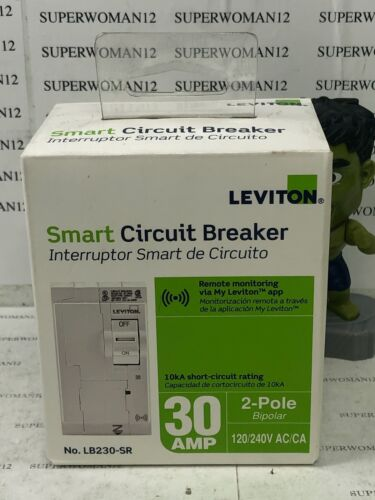 Leviton Smart Branch Circuit Breaker, Standard 2-Pole 30 Amp 120-Volt/240-Volt
