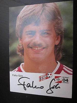 778  Bayer Leverkusen 80er Jahre Falko Götz 84-85 original signierte AK