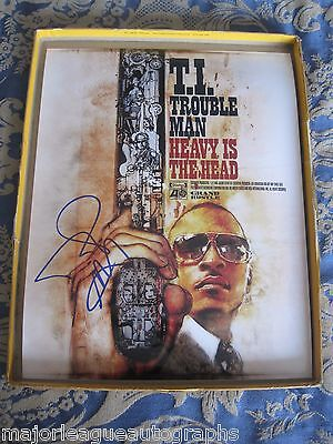 T.I. TIP Clifford Harris Signed Autographed Trouble Man 11x14 Photo W/Proof/COA
