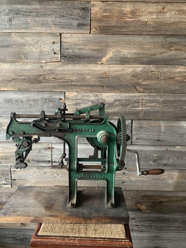 Vintage Bonanza Apple Peeler Cast Iron Commercial Peeler