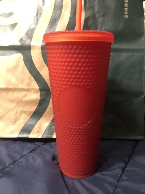 Starbucks ❤️Valentine's❤️ 2021 LTD Edition Studded Matte Red Venti 24oz Tumbler