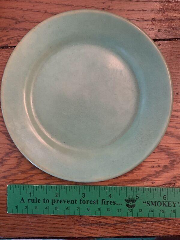 "Paul Revere Pottery SEG Green Glazed Sml Side Plate 6"" Boston, MA c1920"