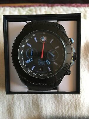 BMW MotorSport Chronograph Ice Watch - Big Chrono - Sports Watch - Black - BNIB
