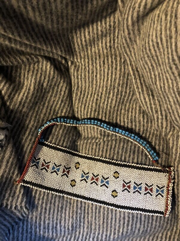 Antique 27x8 Cm Zulu or Xhosa Beaded Necklace or Cache Sexe