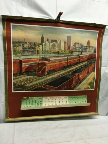 Pennsylvania Railroad 1954 And 1955 Calendar Poster