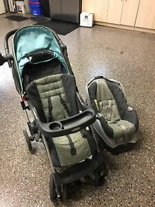Stroller and car seat and car seat attachment