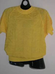 2 Jaeger cotton knit tops, canary yellow & white, size 14-16 Kogarah Rockdale Area Preview