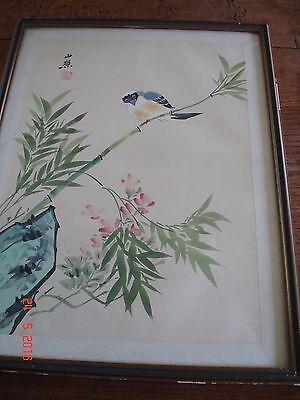 Aquarelle Asiatique Ancienne - Signée -