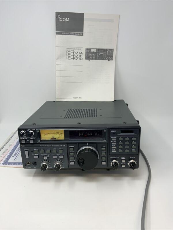 ICOM IC-R71A Communications Receiver Shortwave w/ DOCUMENTS